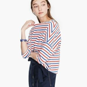 J.Crew Oversized Striped Cotton T-Shirt